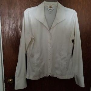White Talbots Blouse Size 14